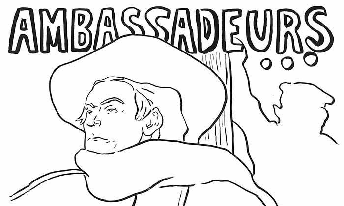 【塗り絵】アンバサドールのアリスティード・ブリュアン / ロートレック