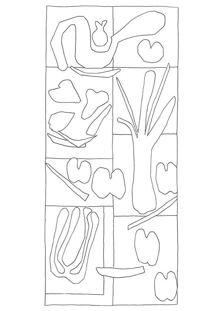 【塗り絵】野菜/アンリ・マティス